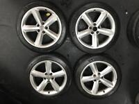"GENUINE SET OF FOUR 4 AUDI 18"" WHEELS"
