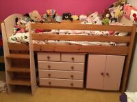 Girls pink Midi Bed for sale