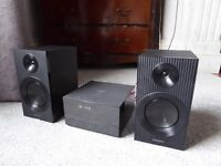 Panasonic 70W microsystem with bluetooth, very little used, fabulous sound quality,boxed with remote