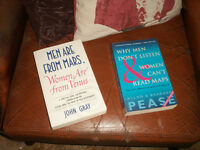 Men are from Mars plus Why Men Don't Listen & Women Can't Read Maps paperback books