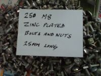 Roofing bolts M8 x 25mm new