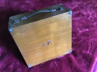 Lawn Bowls Carry Case - wooden, hinged, good condition.