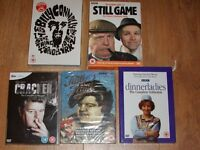 5 new dvd box sets-still game/ tutti frutti/ cracker/ dinnerladies/ billy connolly