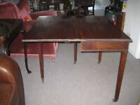 Antique occasional fold-out tea/card table