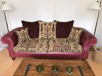 Excellent condition leather and fabric sofa perfect for a cosy nights in and guest lounging