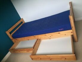 2 single beds that can be built into bunk beds with all fittings and accessories