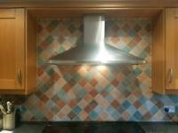 Large Silver Extractor hood