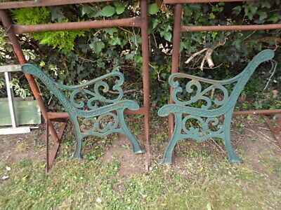 old style cast iron bench ends
