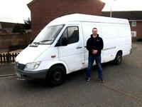 Man with a big Van, competitive prices, friendly service, sofas, fridges, washing machine.