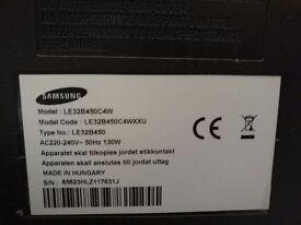 """Broken Samsung 32"""" HD flat screen tv"""