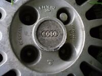 VW AUDI MULTI SPOKE WITH ORIGINAL AUDI CENTRE CAP