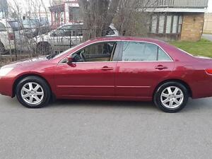 2005 Honda Accord Sdn EX V6  P.leather LOWKMS P.Sunroof,Certifie