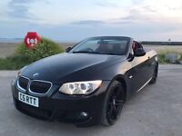 BMW 320D M SPORT CONVERTIBLE/ RED LEATHER