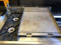 Blue Seal Flat Grill, 2 Burner Gas Cooker with Oven (Takeaway, Restaurant, Kebab shop)