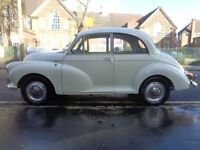 Morris Minor 1000 2 Door, good condition, 1098cc engine, 46,000 since rebuild, excellent runner.