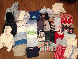53 piece bundle of 0/3 months baby clothes