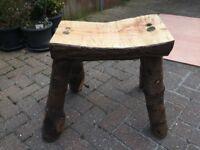 Handmade garden seat