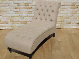Large Chesterfield Chaise Lounge (Delivery)