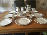 ADAMS Ironstone 'Sharon' crockery in very good used condition.