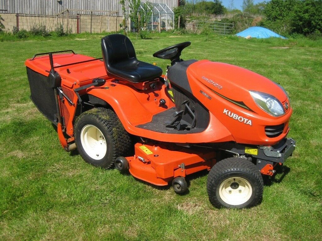 kubota gr2120 4wd diesel ride on mower garden tractor. Black Bedroom Furniture Sets. Home Design Ideas