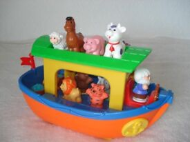 Noah's ark toy with animal sounds and keyboard