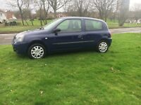 Renault Clio 57 plate low millig hpi clear 12 months mot tax