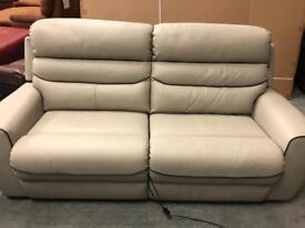 Brand new La-z-boy grey leather suite