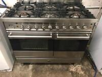 Britannia stainless steel steel range gas cooker and electric ovens 100cm