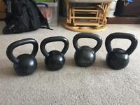 Kettlebells * Cast Iron * 2 x 12kg * 2 x 16kg