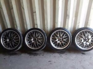 18 inch aftermarket alloy wheels 5x114.3 with all season tires