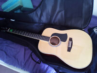 Aria Drednought acoustic with Fender padded gig bag