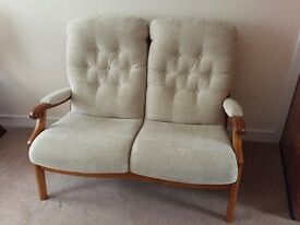 Beautiful Cintique Winchester 2 seat sofa and one matching armchair