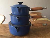 Le Creuset Cast Iron Blue Pans
