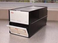 2 Cases of LEICA Slide Magazine Tray for 35mm slides - each magazine holds 80 slides