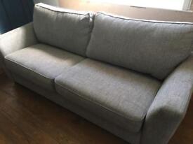 DFS Grey fabric sofa bed