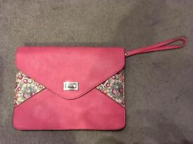 Pink and floral pouch + straps