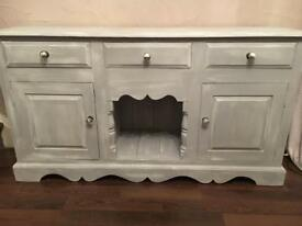 Shabby chic sideboard dresser base country