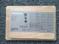 Ikea Magasin Chopping board, set of 2 Rubberwood New