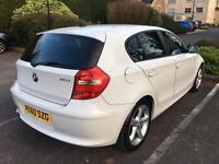 White BMW 1 series sport