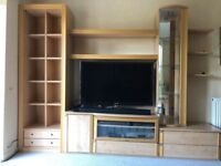Wall Display Unit - Free standing (TV, Soundbar and other equipment visible in photo NOT INCLUDED)