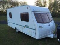 Luner Zenith 2007/6 modell 4 berth 16ft shower room cassette toilet hot and cold running water