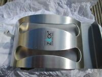 Very stylish Designer toothbrush holder in stainless steel. AS NEW NEVER USED.