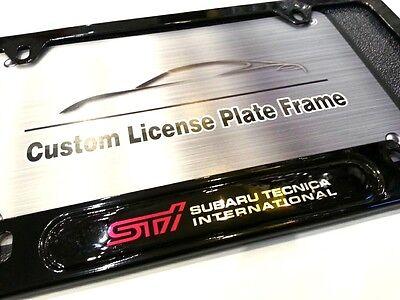 License Plate Frame for STI Gloss Black Subaru Impreza WRX BRZ Legacy Forester