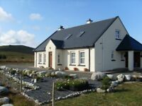DERRYREEL Holiday Cottage in Donegal near Dunfanaghy on Wild Atlantic Way, self catering rental