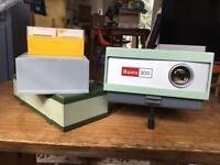 Slide Projector with Vintage Slides