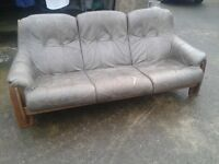 3 Seater Mink Leather Sofa