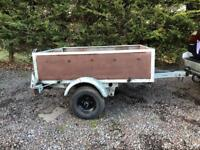 Box trailer very well made out off galvanised metal very strong trailer