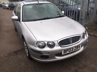 ROVER 25 1.6 AUTOMATIC PETROL IXL AUTOMATIC 2003 LEATHER SEATS SUN ROOF