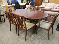 G Plan Extendable Table With Six Chairs