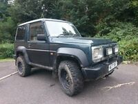 Daihatsu Fourtrak Independent TDS Off Road 4x4 Turbo Diesel SWB 3 DOOR, MOT, Towbar